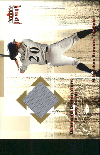 Photo of 2001 Fleer Premium Diamond Dominators Game Jersey #DD13 Jeromy Burnitz