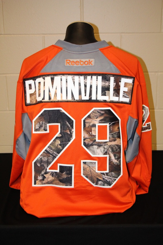 best website 8ef73 8d14b MN Wild #29 Jason Pominville Signed, Player Worn Blaze ...