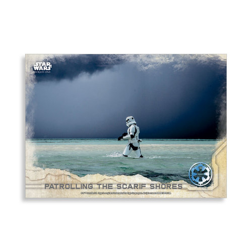 Patrolling the Scarif Shores 2016 Star Wars Rogue One Series One Base Poster - # to 99
