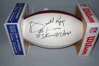 NFL - FALCONS GERALD RIGGS SIGNED PANEL BALL