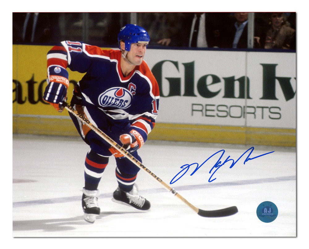 Mark Messier Edmonton Oilers Autographed Hockey Rush 8x10 Photo