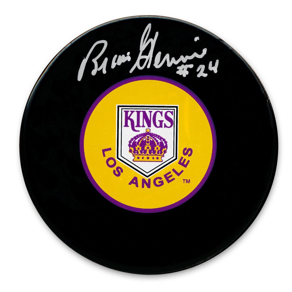 Brian Glennie Los Angeles Kings Autographed Puck