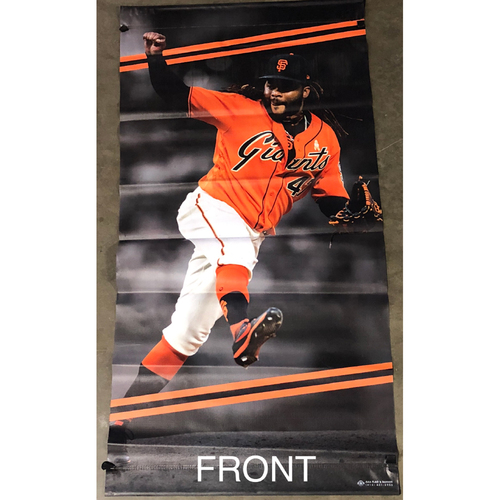 Photo of San Francisco Giants - 2018 Street Banner - 60th Anniversary - Johnny Cueto