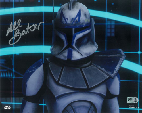 Dee Bradley Baker As Rex 8x10 Autographed in Silver Ink Photo