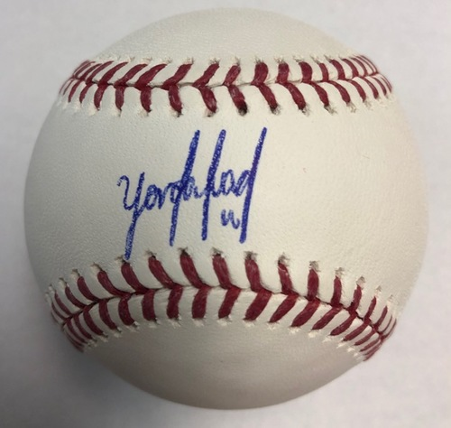 Photo of Yordan Alvarez Autographed Baseball