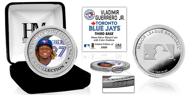 Toronto Blue Jays Guerrero Jr. Debut Silver Coin by Highland Mint