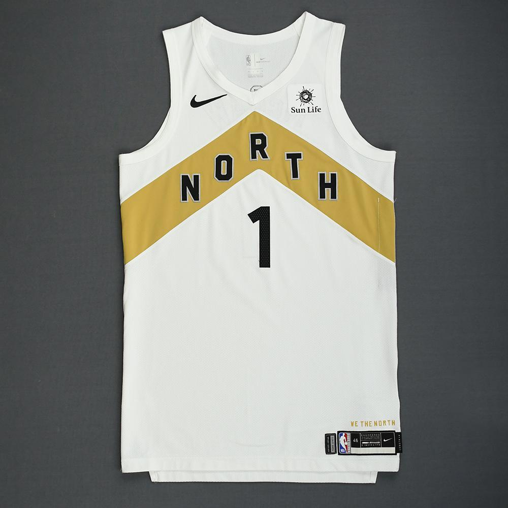Patrick McCaw - Toronto Raptors - 2018-19 Season - Game-Worn White City Edition Jersey
