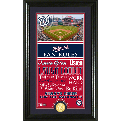 Photo of Washington Nationals Fan Rules Supreme Bronze Coin Photo Mint