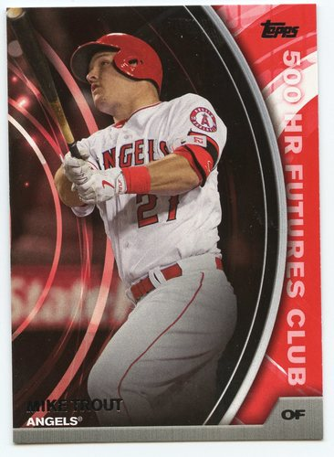 Photo of 2016 Topps Update 500 HR Futures Club #5005 Mike Trout