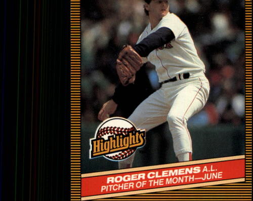 Photo of 1986 Donruss Highlights #18 Roger Clemens