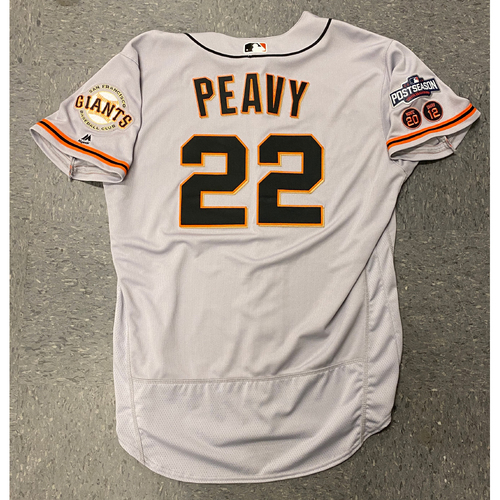 Photo of 2016 Game Used Postseason Road Jersey worn by #22 Jake Peavy - Size 48
