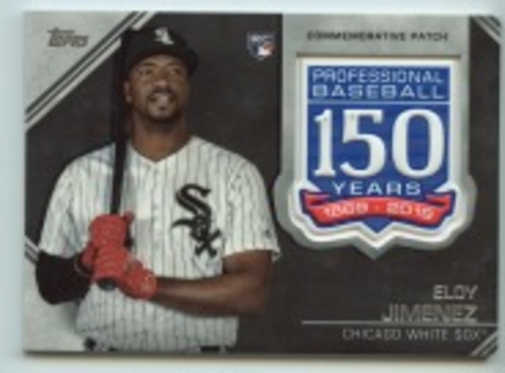 2019 Topps Update 150th Anniversary Manufactured Patches #AMPEJ Eloy Jimenez