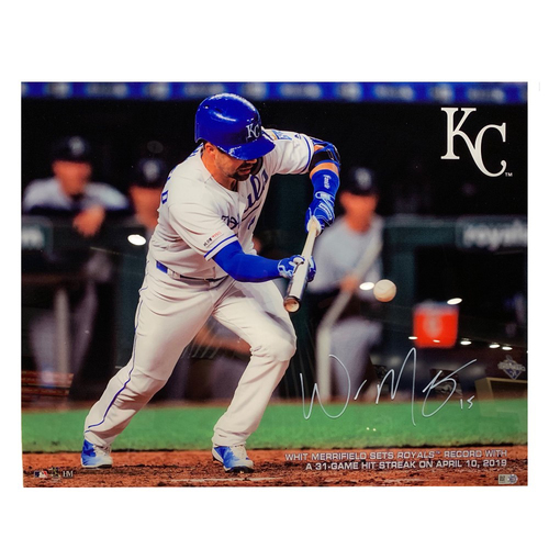 Photo of Autographed PlexArt: Whit Merrifield Hit Streak Record