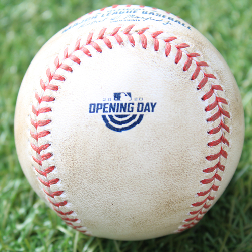 Photo of Game-Used Opening Day Baseball: Batter - Robert, Pitcher - Bubic (Debut), Foul, Top 4 (7/31/20 CWS @ KC)
