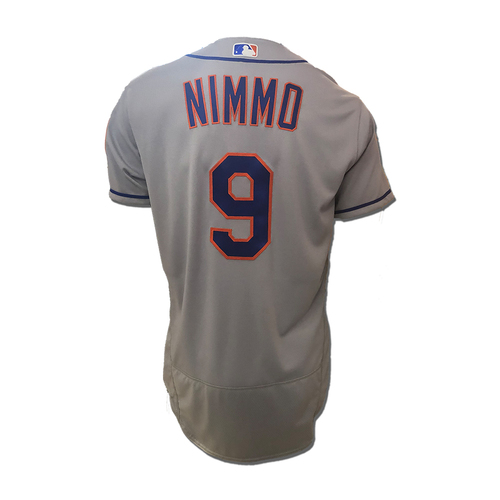 Photo of Brandon Nimmo #9 - Team Issued Road Grey Jersey - 2018 Season