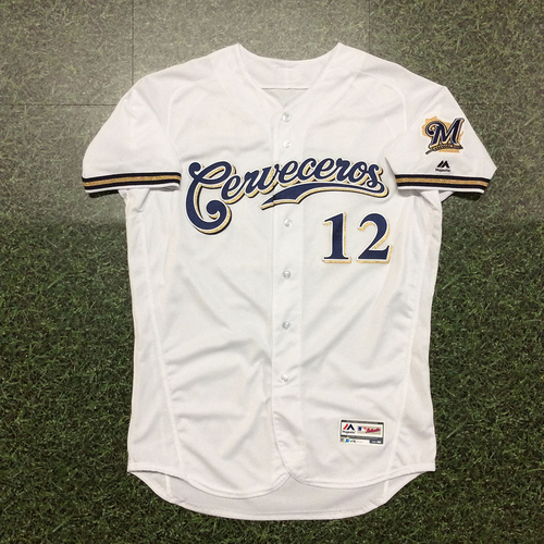 Photo of Alex Wilson 2019 Team-Issued Cerveceros Jersey