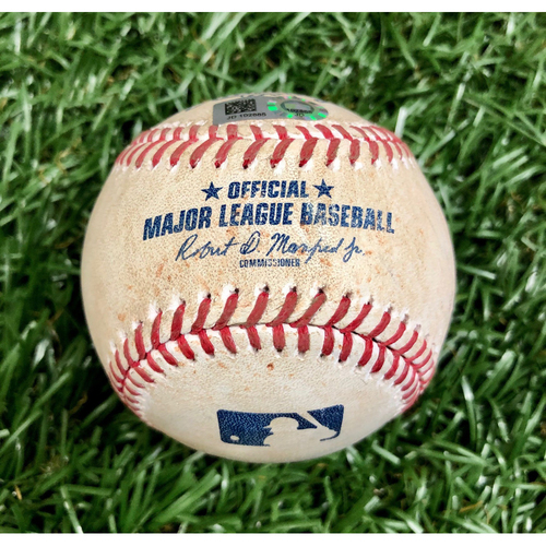 Photo of Game Used Baseball: Carter Kieboom single off Ryan Thompson - September 16, 2020 v WSH