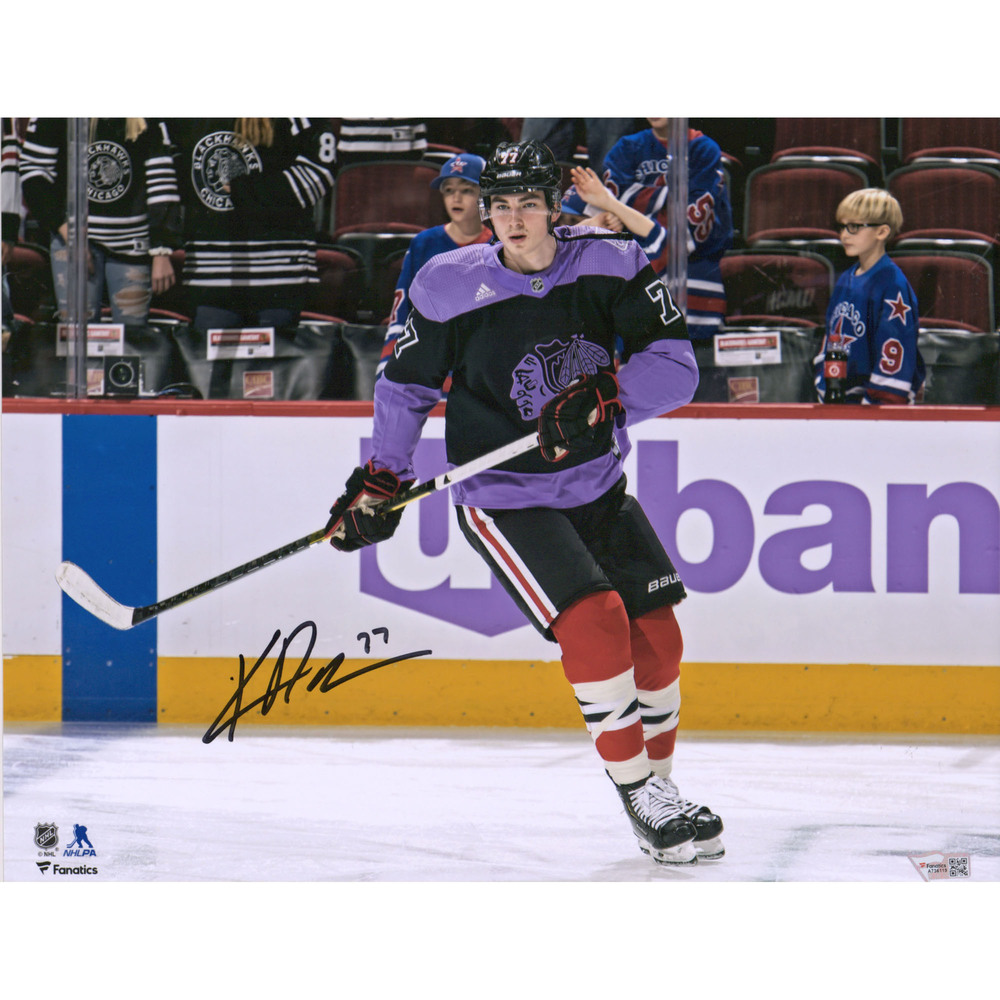 Kirby Dach Chicago Blackhawks Autographed 11