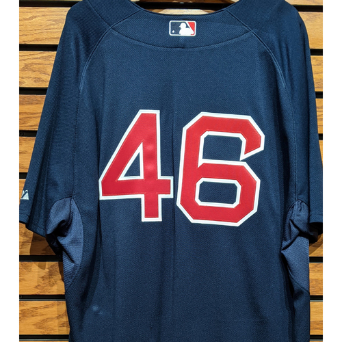 Photo of Red Sox #46 Number Only Team Issued Navy Road Alternate Jersey
