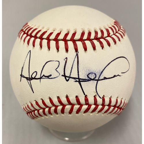 Photo of Giants Community Fund - Smudged Autographed Baseball signed by Alen Hanson
