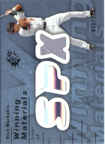 Photo of 2007 SPx Winning Materials 175 Blue #NM Nick Markakis/175