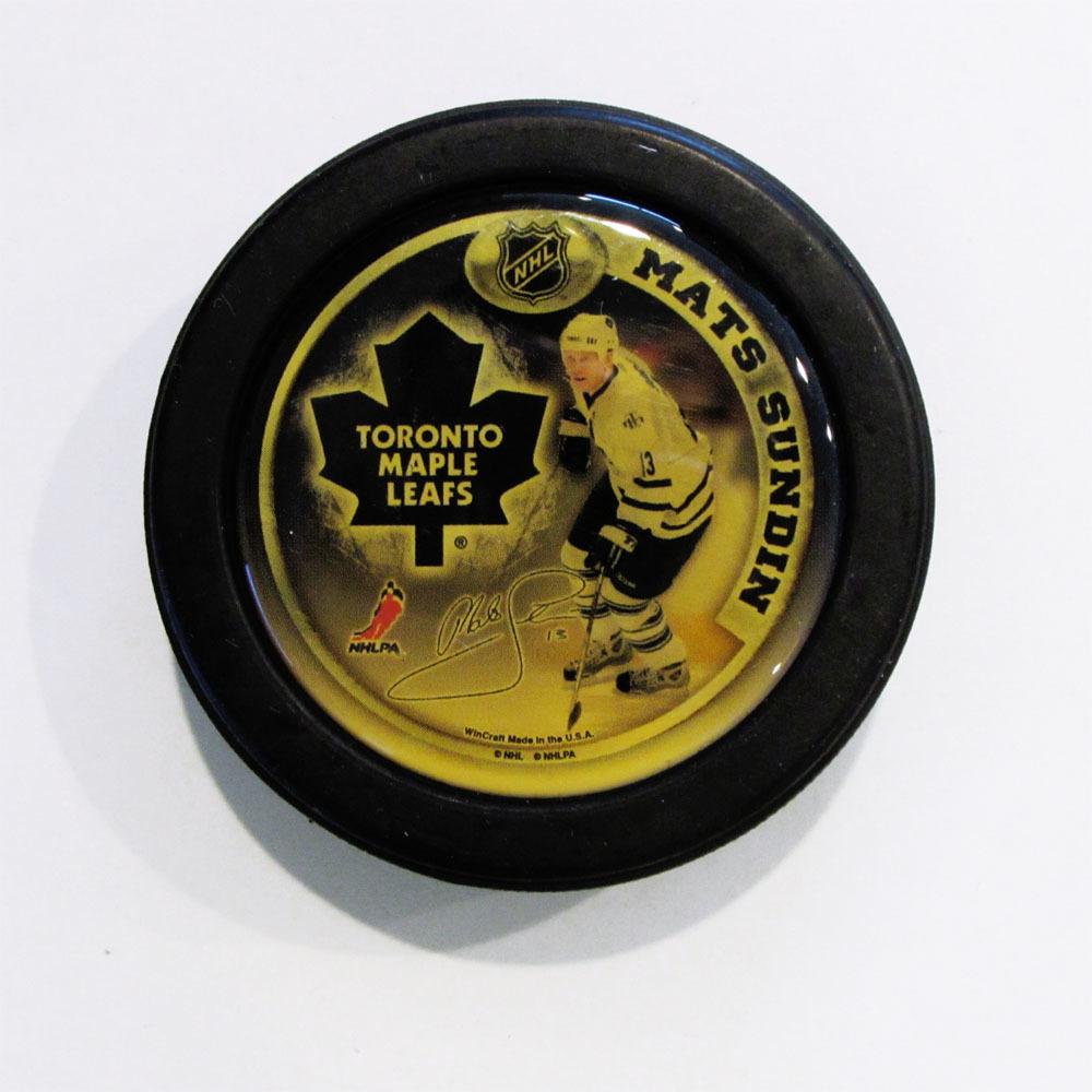 Mats Sundin NHL Player Puck
