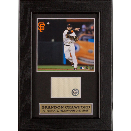 Photo of San Francisco Giants - Brandon Crawford Game-Used Jersey Swatch Frame