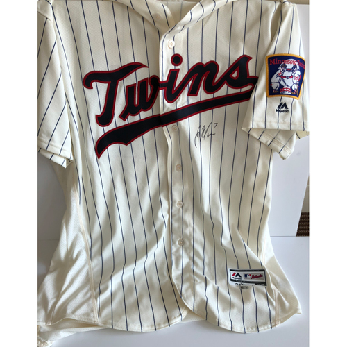 "Photo of Joe Mauer Game-Used ""42"" Jersey"