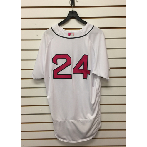 Photo of David Price Team-Issued May 14, 2017 Mother's Day Home Jersey