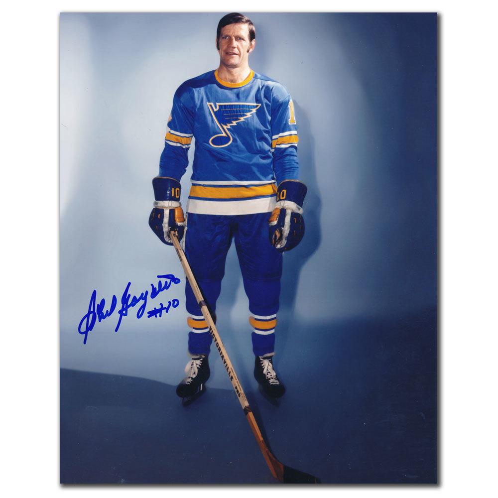 Phil Goyette St. Louis Blues Autographed 8x10