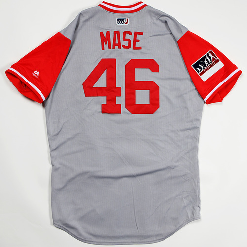 "Photo of Mason ""MASE"" Williams Cincinnati Reds Game-Used 2018 Players' Weekend Jersey"