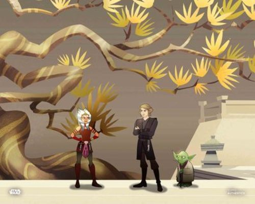 Anakin Skywalker, Ahsoka Tano and Yoda