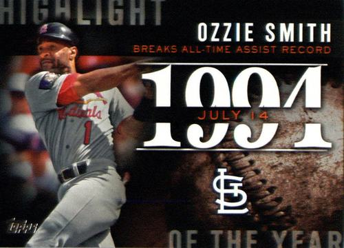 Photo of 2015 Topps Highlight of the Year #H55 Ozzie Smith