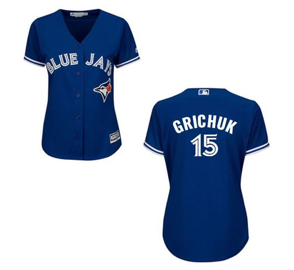Toronto Blue Jays Women's Randal Grichuk Replica Alternate Jersey by Majestic