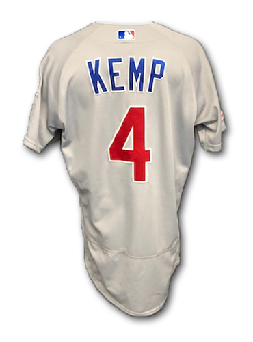 Photo of Tony Kemp Game-Used Jersey -- 1 Hit, 1 RBI -- Cubs at Cardinals -- 9/28/19 -- Size 40