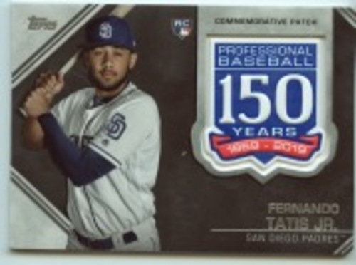 Photo of 2019 Topps Update 150th Anniversary Manufactured Patches #AMPFT Fernando Tatis Jr.