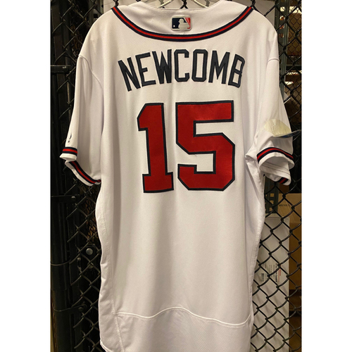 Photo of Sean Newcomb Game Used Jersey from 2018 NLDS - Worn 10/7/2018