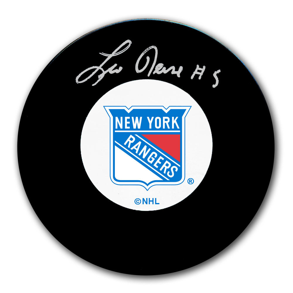 Leo Reise New York Rangers Autographed Puck