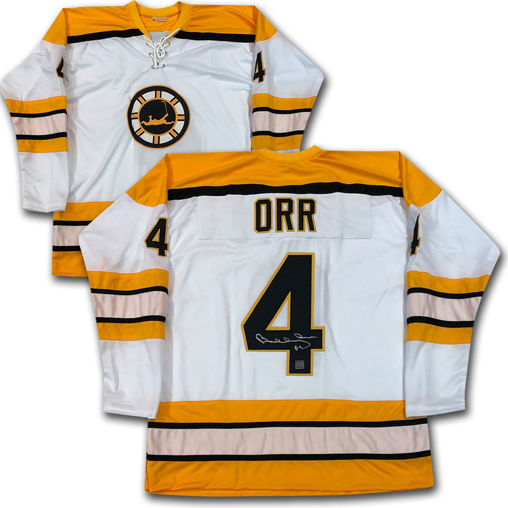 Bobby Orr Autographed Commemorative FLYING GOAL Jersey