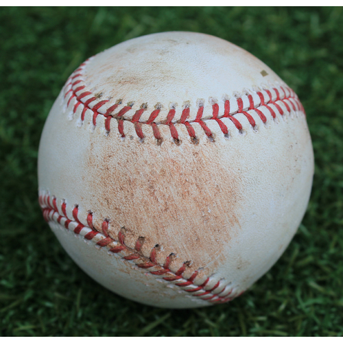 Photo of Game-Used Baseball: Hunter Dozier 44th Career Double (BAL @ KC - 8/30/19)