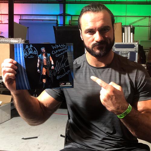 Photo of Drew McIntyre SIGNED WrestleMania 36 Exclusive Photo (#1 OF 36)