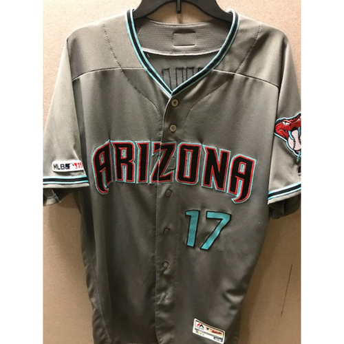 Photo of Torey Lovullo 2019 Team-Issued Road Alternate Jersey (Size 48)