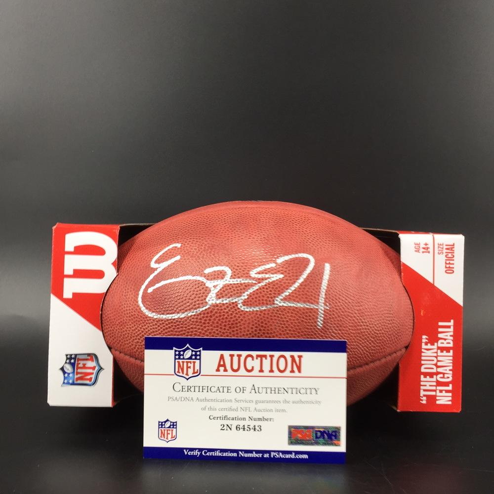 NFL - Cowboys Ezekiel Elliott Signed Authentic Football W/ 100 Seasons Logo