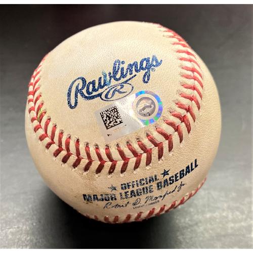Photo of Game-Used Baseball:  Gleyber Torres New York Yankees Single  (MLB AUTHENTICATED)