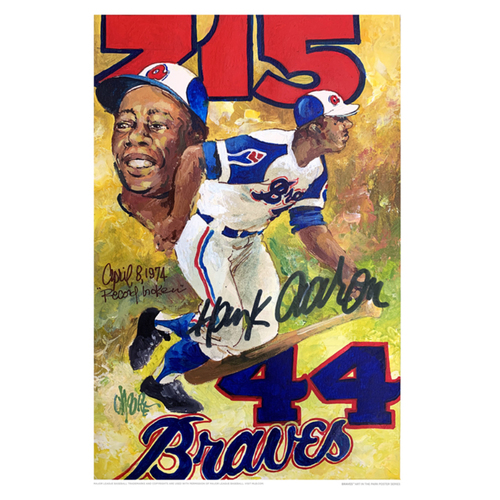 Photo of Hank Aaron - Braves Art in the Park Poster by Waylon Moore