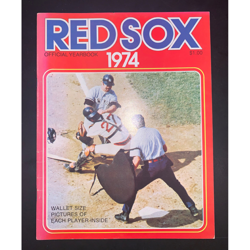Photo of Boston Red Sox 1974 Official Yearbook
