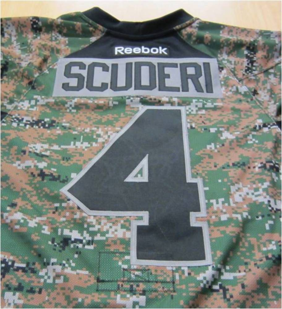 new styles 8aa38 9aeaa Rob Scuderi pre-game worn and signed Reebok camo Pittsburgh ...