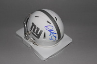 NFL - GIANTS DWAYNE HARRIS SIGNED GIANTS ICE MINI HELMET