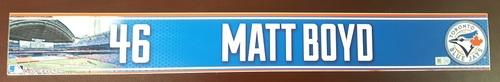 Photo of Authenticated Game Used 2015 Locker Nameplate - #46 Matt Boyd