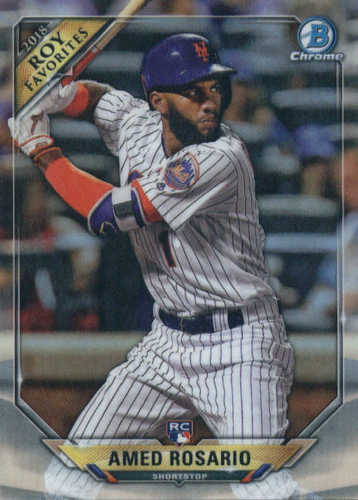 Photo of 2018 Bowman Chrome Rookie of the Year Favorites Refractors #ROYFAR Amed Rosario